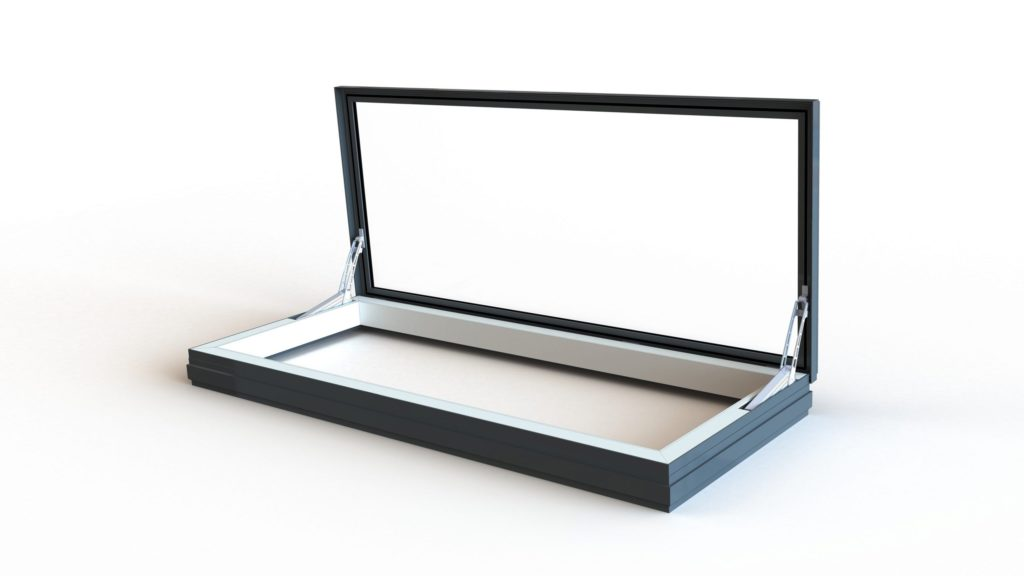 24v Skyway Electric Access Flat Glass Rooflight