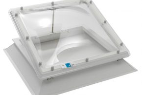 Electric Hinged Dome Rooflight 150mm uPVC Upstand