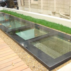 Walk-on Multi-section Flatglass Rooflight - Private Residence, Westminster