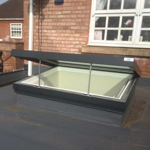 Electric Hinged Flatglass Rooflight