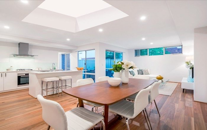 Fixed Flat Glass Rooflight Kitchen Extension