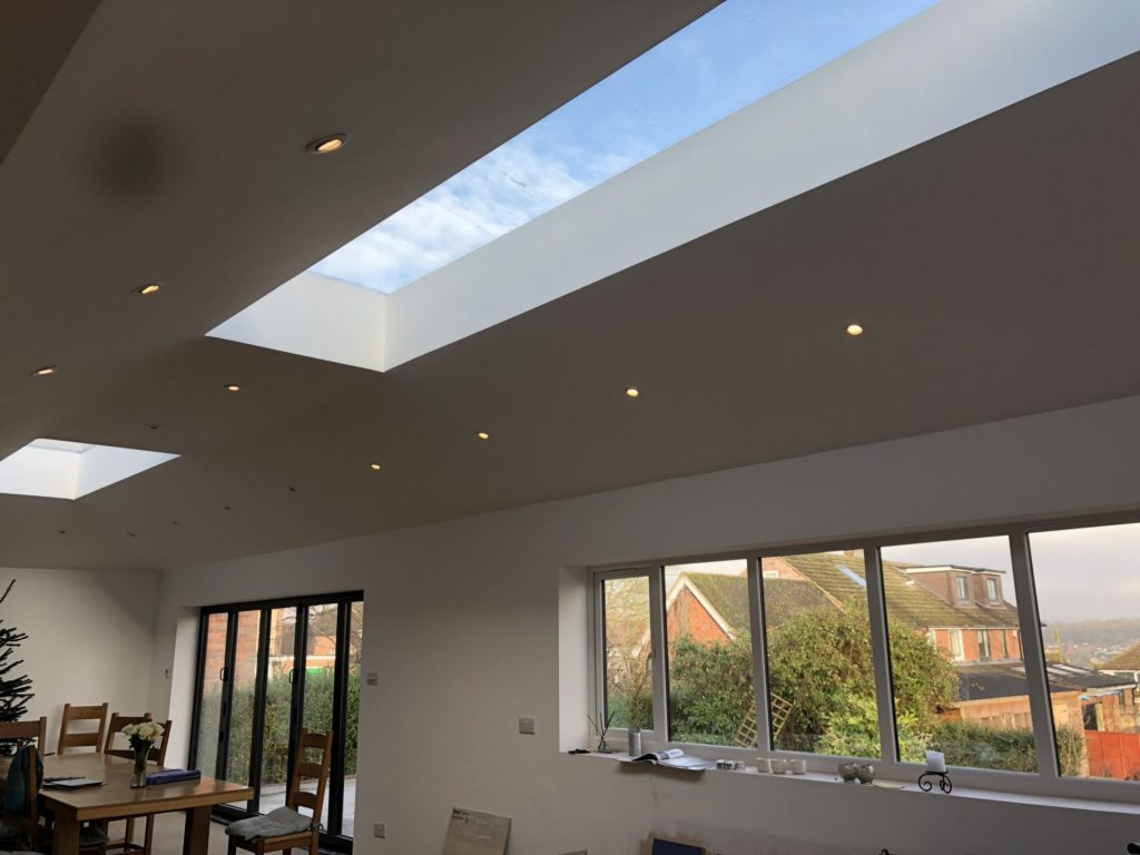 Fixed Flat Glass Rooflights, Private Residence