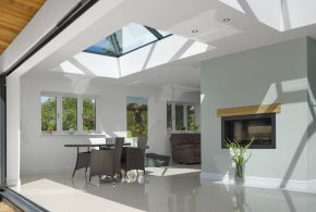 Roof lantern above extension